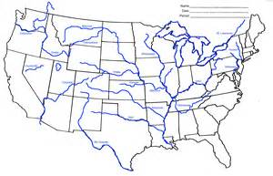 United States Major River Systems Map by Quia Class Page Westward Expansion