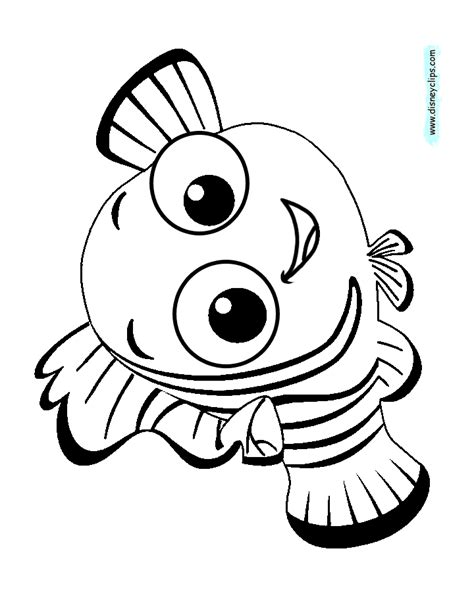 nemo coloring pages free printable finding nemo coloring pages
