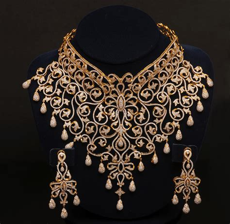 design diamond indian jewelry gold set designs newhairstylesformen2014 com