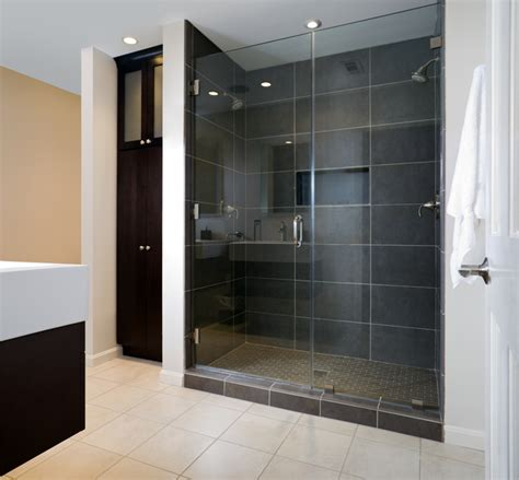 Modern Bathroom Shower Modern Master Bath Shower Contemporary Bathroom Other Metro By Av Architects Builders