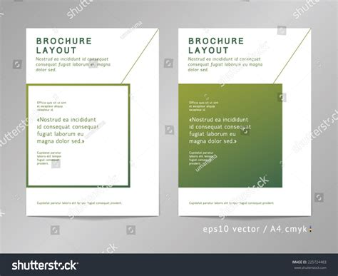 leaflet page layout brochure leaflet cover page layout template stock vector