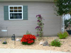 yard design for mobile home front lawn landscaping ideas rv rental lanscape information