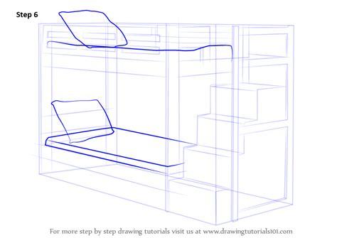 step  step   draw  bunk bed drawingtutorialscom