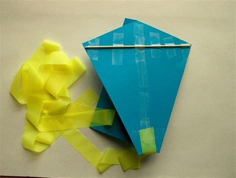How To Make Simple Kite From Paper - paper kite make it your library
