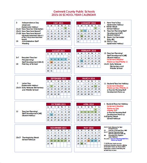 yearly calendar 8 free sles exles format