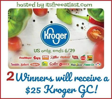 Gift Cards Available At Kroger - two winners 25 kroger gift cards switch2bodyarmor bringit