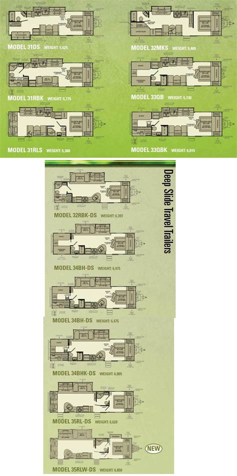 evergreen travel trailer floor plans evergreen travel trailer floor plans gurus floor