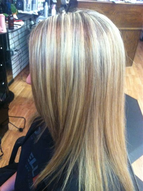 blondwith high and low lights long sandy blonde hair mane attraction pinterest