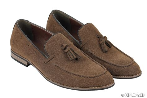 vintage mens loafers mens suede leather line tassel loafers vintage smart retro