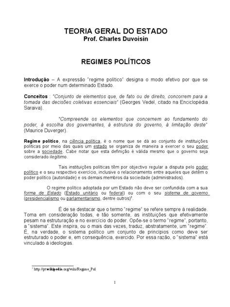 Regimes Politicos | Totalitarismo | Estado (Forma de gobierno)