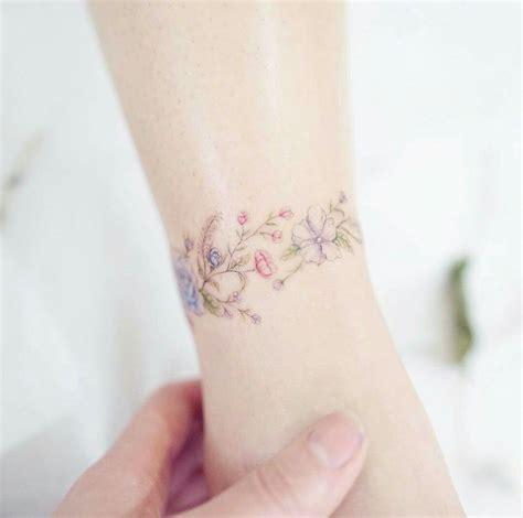 name bracelet tattoos on wrist flower bracelet
