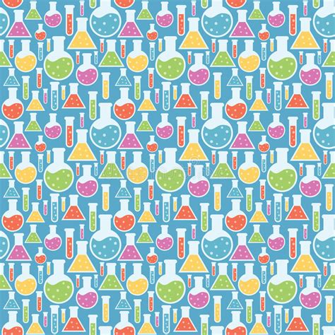 pattern lab less seamless science laboratory pattern stock photo image