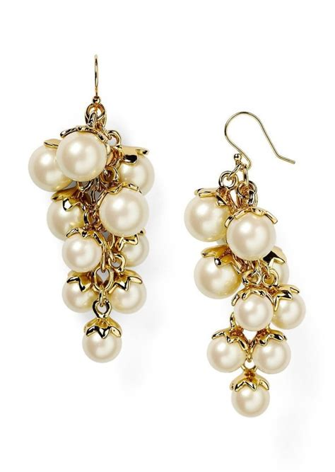 Kate Spade Kate Spade New York Petaled Pearls Chandelier Kate Spade Chandelier Earrings