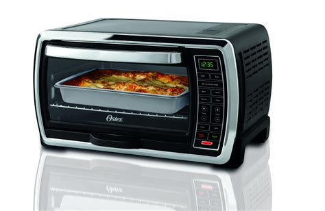 Large Capacity Countertop Oven by Oster Large Capacity Countertop 6 Slice Digital Convection Toaster Oven Black Ebay