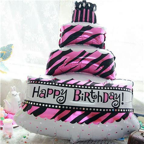 Balon Foil Kue Tart Birthday Cake balon foil cake happy birthday elevenia