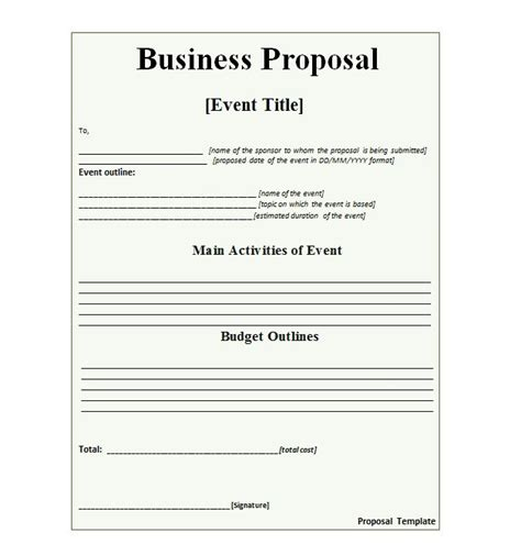 36 free business proposal templates proposal letter