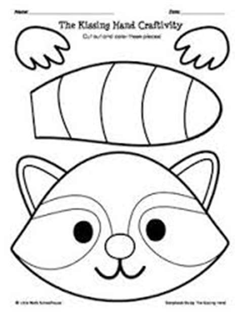printable raccoon mask template image result for kissing hand raccoon puppet template free