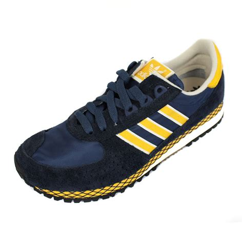 Adidas Marathon Running Cewe 37 40 adidas trainers city marathon pt mens navy yellow running
