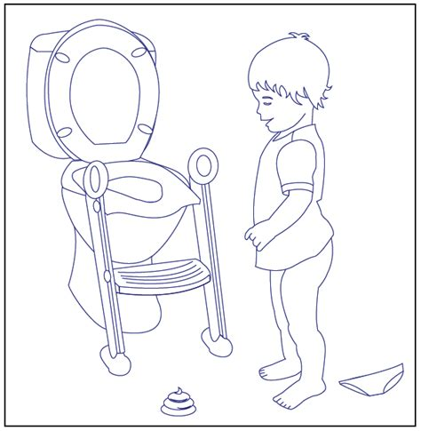 free coloring pages of toilet training 18322