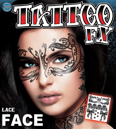 temporary face tattoos halloween temporary tattoos beautiful lace