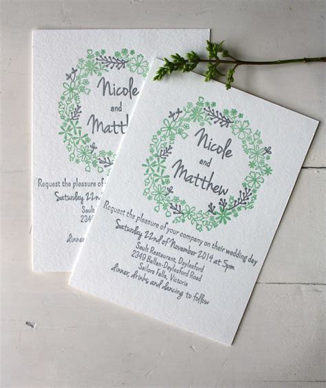 Wedding Invitations Letterpress by Letterpress Wedding Invitations