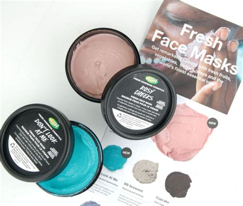 Masker Lush lush cosmetics new fresh masks rosy cheeks don t look at me swatch and review
