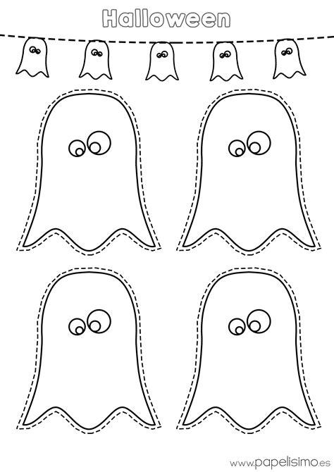 imagenes otoño para imprimir dibujos fantasmas de halloween para imprimir y recortar