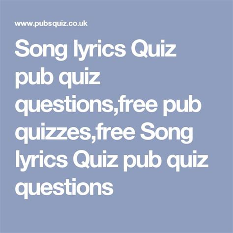 printable music lyrics quiz the 25 best pub quizzes ideas on pinterest pub quiz