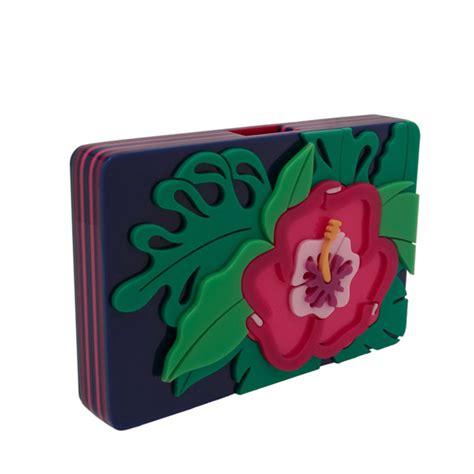 Bagtitude Hibiscus Tosca Clutch Bag yazbukey hibiscus clutch lyst