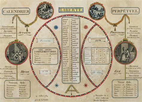 Le Calendrier Republicain Le Calendrier R 233 Volutionnaire