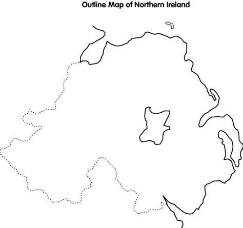 Ie Map Area Outline by Cain Maps Outline Map Of Northern Ireland Large Map