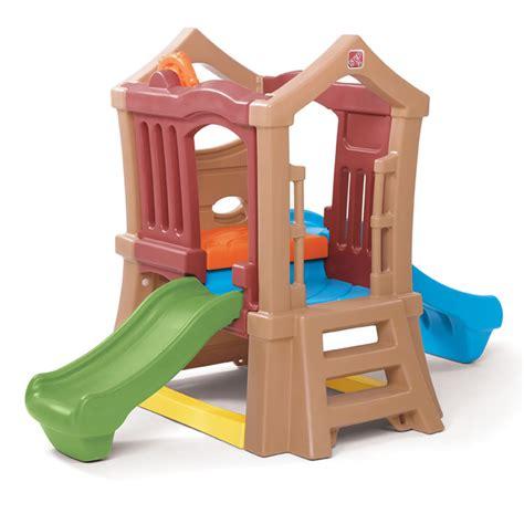 buitenspeelgoed opruiming play up double slide climber kids climber step2