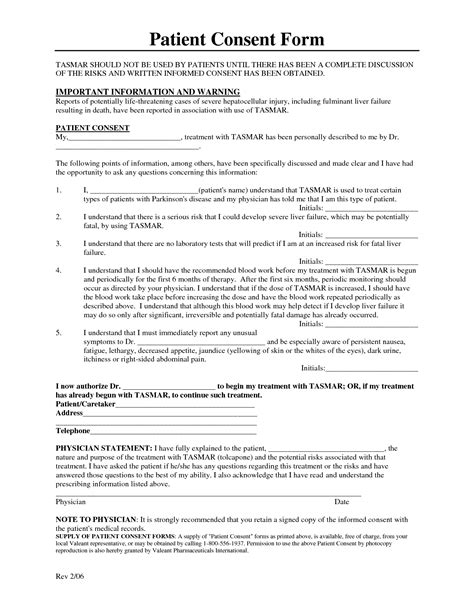 informed consent form template best photos of patient informed consent form template