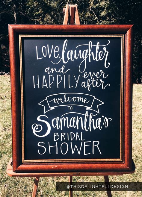 love laughter happily   bridal shower