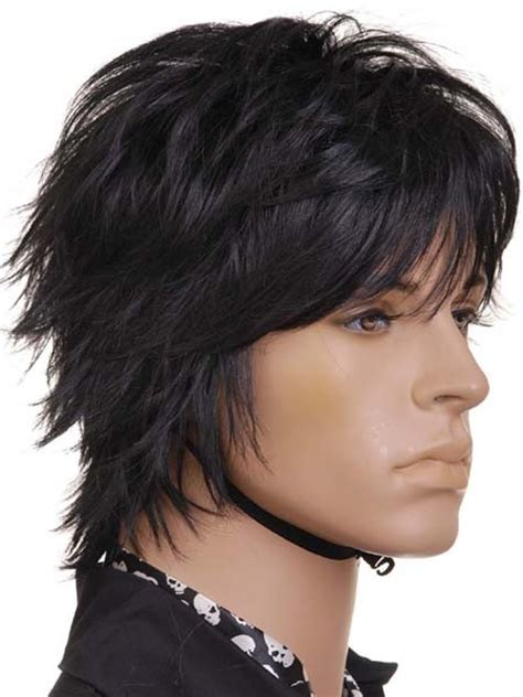 spiked human hair wigs for black woman kw143 short black spike gothic wigs for human hair new
