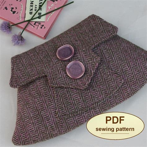 sewing pattern exchange sewing pattern to make the home guard clutch bag pdf pattern