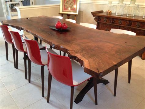 live edge slab dining room table handmade walnut live edge slab dining table by zac