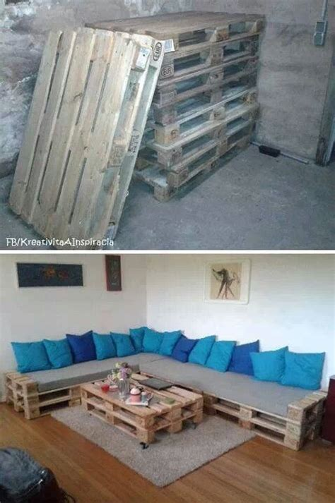 l shaped pallet couch l shaped couch pinterest crafts
