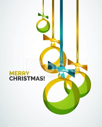 merry christmas modern merry christmas modern card abstract baubles stock vector
