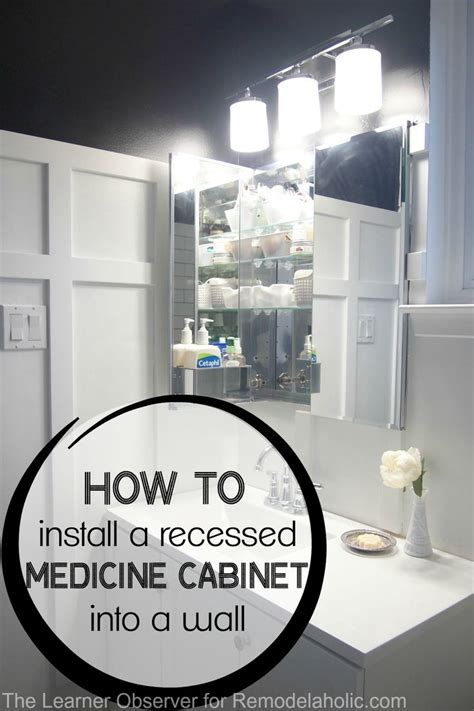 how to install a medicine cabinet how to install a recessed medicine cabinet bathroom wall