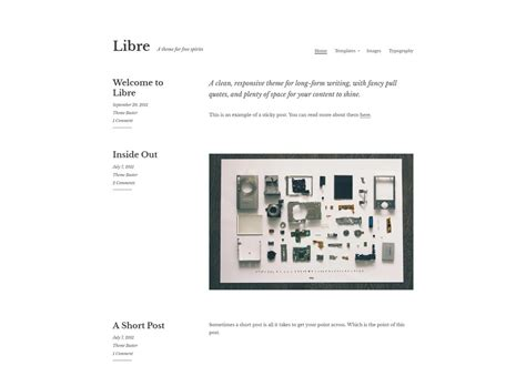 theme wordpress libre 20 free minimalist wordpress themes for blogs portfolio