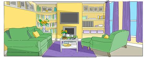 living room cartoon animation backgrounds on behance