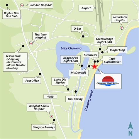 chaweng regent resort hotel map resort location resorts koh samui chawengburi