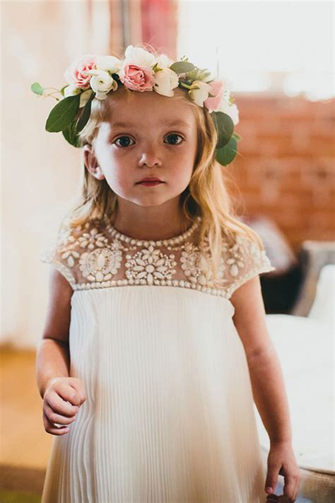 adorable girls headband of ivory silk flowers great for 18 cutest flower girl ideas for your wedding day