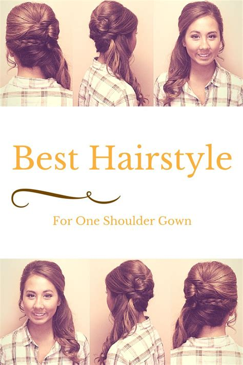 Best Way To Wear Longer Hair Behind The Ears | how to wear hair with a one shoulder gown side swept