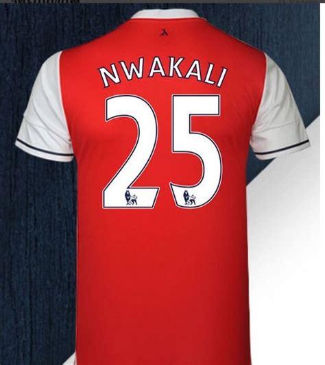 arsenal number kelechi nwakali flaunts his arsenal jersey number sports