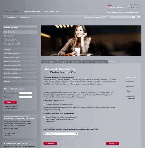 Audi Bank Konditionen by Audi Bank Girokonto Konditionen Im Test