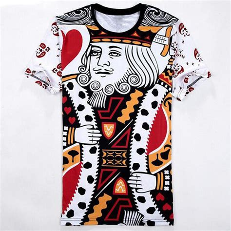 hip hop beatbox pattern funny 3d poker printed t shirts female male playing cards