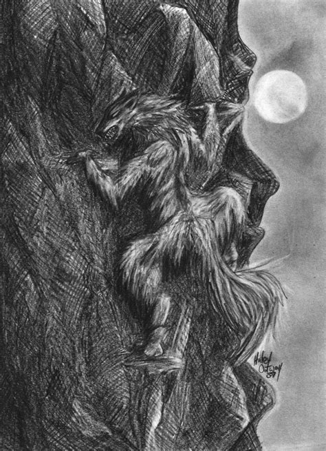 vires a vire coloring 1545215561 crawling werewolf drawings in ninepix
