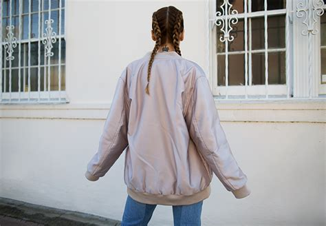 Attention Jacket Dusty Pink inspiration the bomber jacket the front row view